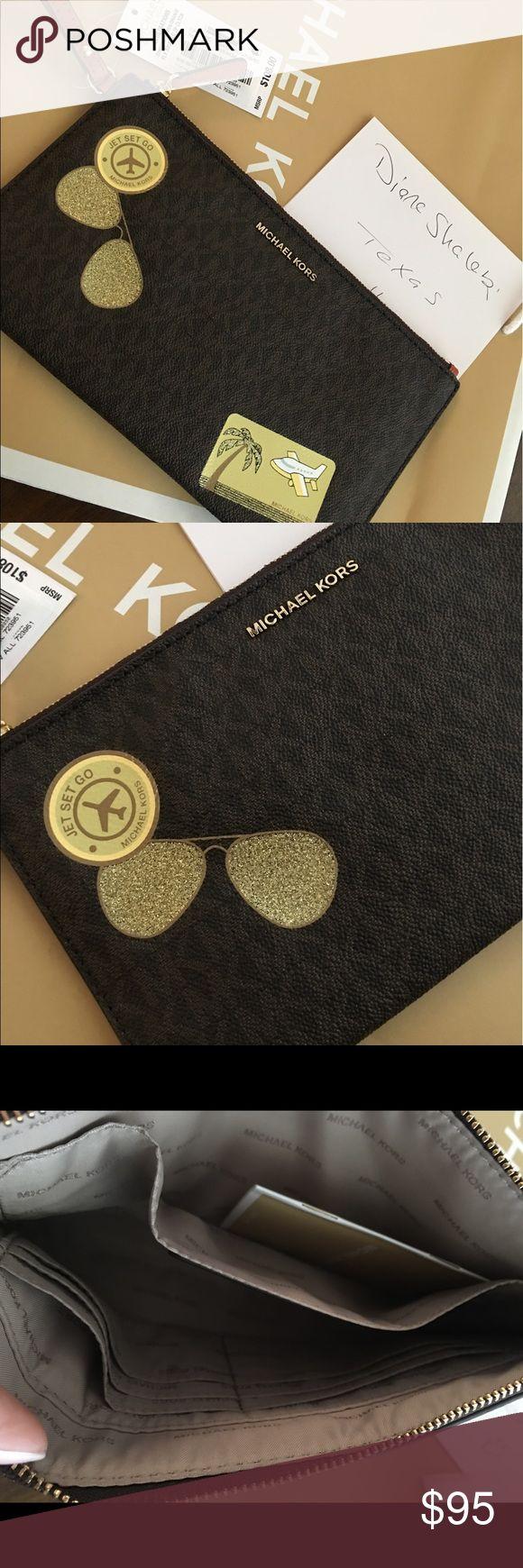 Mk large clutch Brand new Michael Kors Bags Clutches & Wristlets