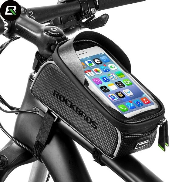 ROCKBROS Rainproof MTB Road Bike Bicycle Bags Touch Screen Cycling Top Front ...