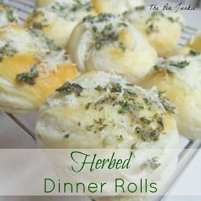 The Pin Junkie: Herb Dinner Rolls