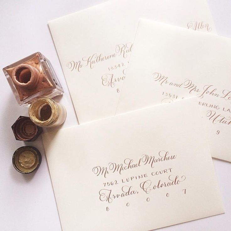 Laura Hooper Calligraphy Rose Gold Ink On Ivory