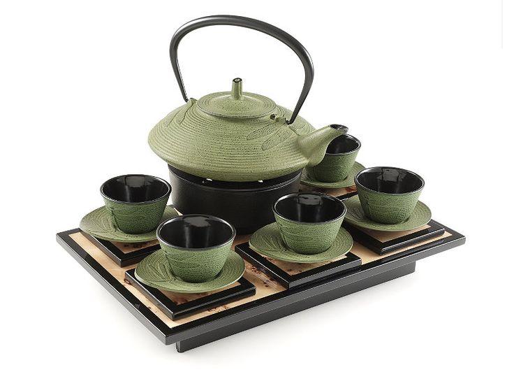 Beautiful cast iron tea set by teavana tea time pinterest cast iron - Teavana teapot set ...