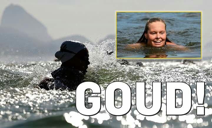 GOUD! Sharon van Rouwendaal wint op sensationele wijze. Gefeliciteerd. Wil je meer weten over sport? Kom naar de bieb!