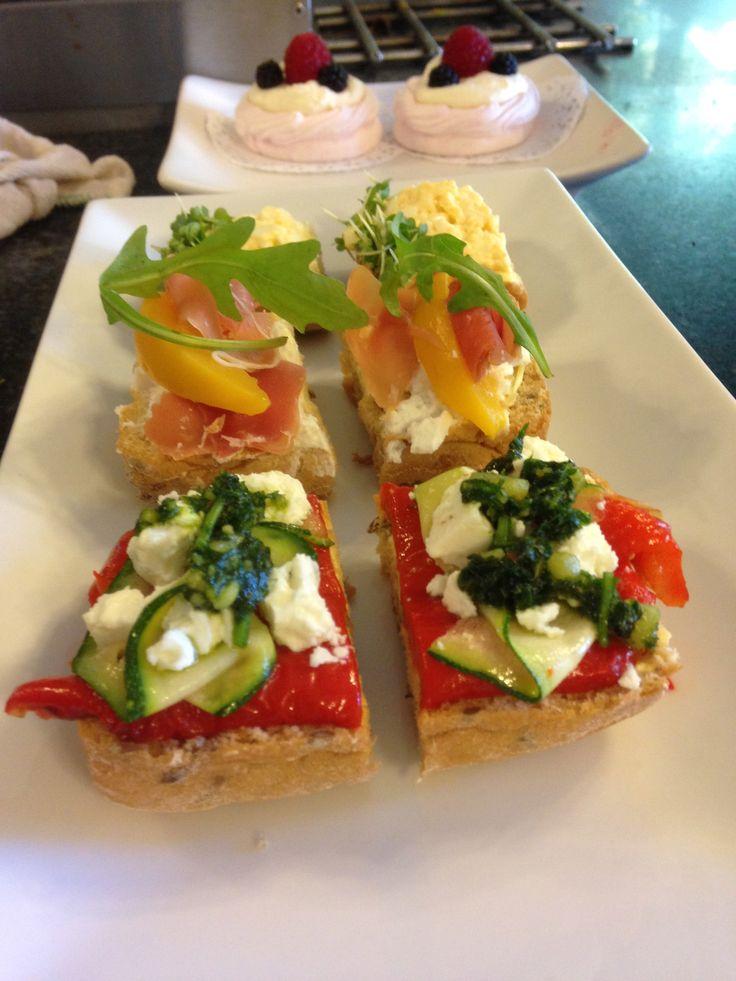 Gluten free open sandwiches before the wedding!