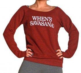 Funky Yoga Толстовка флисовая When*s Savasana