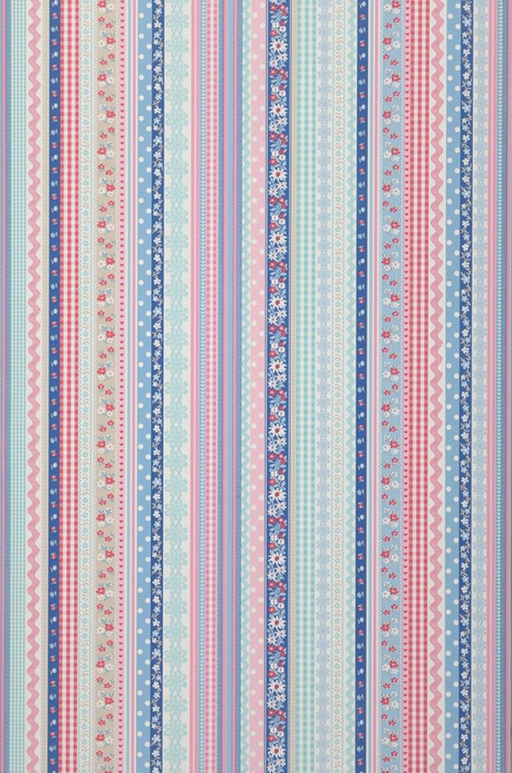 £36.44 Price per roll (per m2 £6.84), Kids wallpaper, Carrier material: Non-woven wallpaper, Surface: Smooth, Look: Matt, Design: Ribbons, Stripes, Basic colour: White, Pattern colour: Blue, Grey beige, Pastel blue, Pastel turquoise, Ruby red, Characteristics: Good lightfastness, Low flammability, Strippable, Paste the wall, Wash-resistant