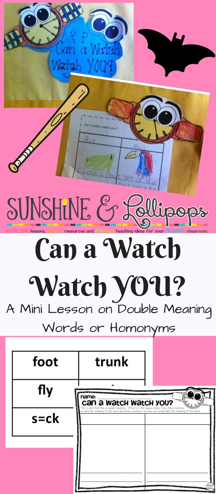 A fun craftivity and mini lesson plan on double meaning words.  Tried and true with first graders!!  Fun for everyone and a great tool for ELL kiddos!!! Enjoy!