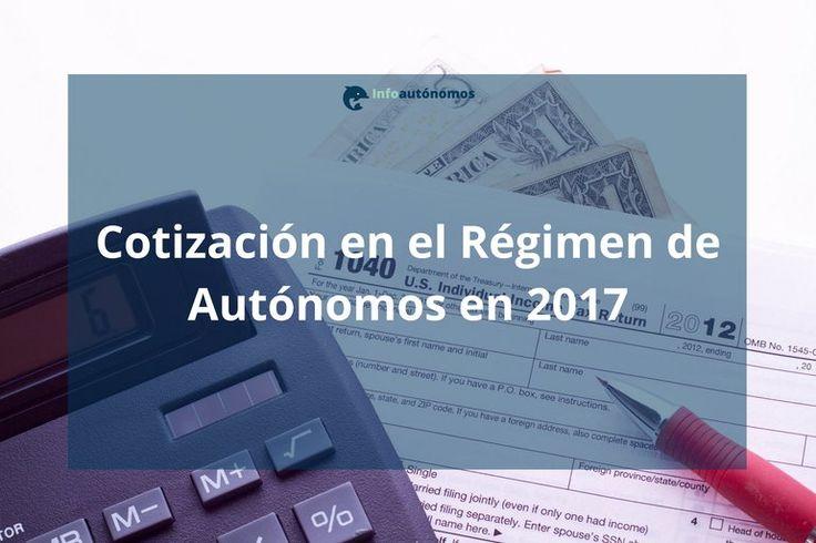 Cotización autónomos 2017: Bases y tipos de la Seguridad Social | Infoautónomos
