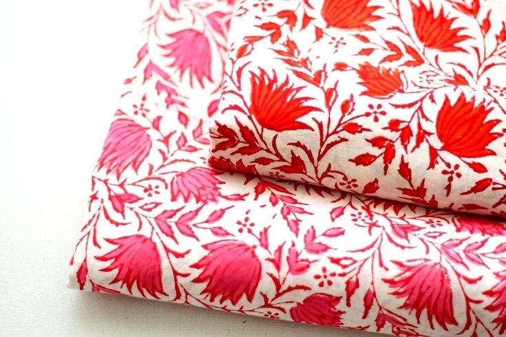 Big floral block print cotton fabric dress material in Red and Pink ₹125.00 Floral block print cotton fabric available in 2 colors. Perfect for any sewing and crafting projectshttps://shop.chezvies.com/#!/Big-floral-block-print-cotton-fabric-dress-material-in-Red-and-Pink/p/104671857