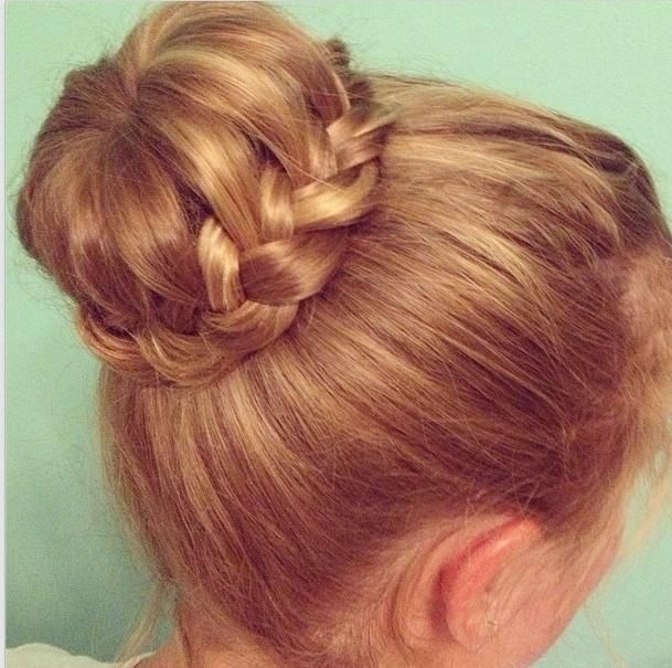 lace braid & bun