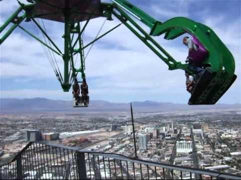 Las Vegas Crazy Stratosphere Insanity Roller Coaster Ride