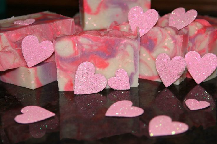 Natural soaps by Jessica   Love Spell $5  This fragrant soap smells like the Victoria Secret 'Love Spell' perfume.  You can expect the same enriching bar of soap with all the natural oils and butter mixed with the romantic scent of Love Spell.  For those of you who would like a description of the scent, it is a mixture of bergamot, peach, strawberry, damask rose with coconut milk and white musk.  Just in time for Valentine's Day!!