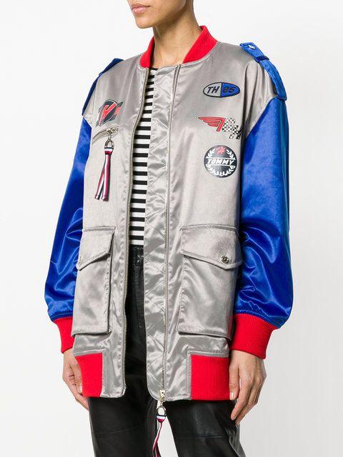 b0174d3a TOMMY HILFIGER X Gigi Hadid racer bomber jacket | Gigi Hadid in 2019 ...