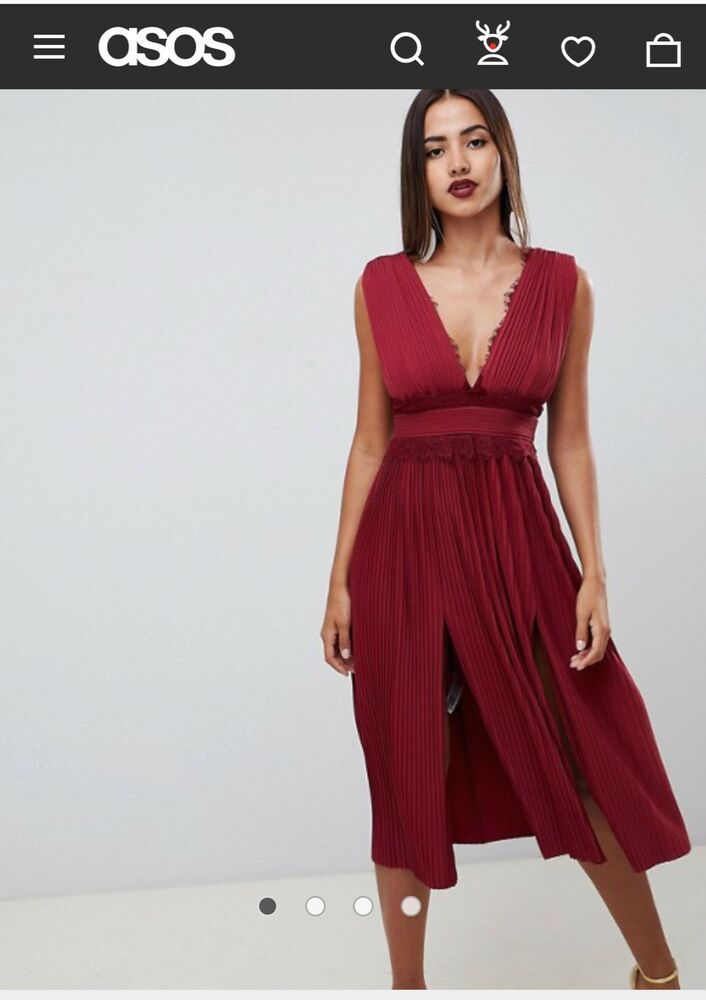 378c17930d1 ASOS Midi Plated Dress 8 Color  Oxblood  fashion  clothing  shoes   accessories  womensclothing  dresses (ebay link)