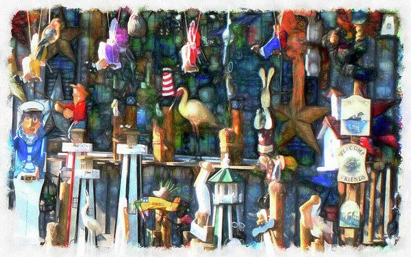 Woodcraft Giftshop In Montour Falls Art Print by Leslie Montgomery.