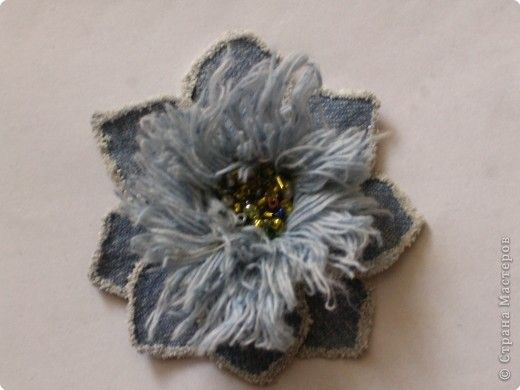 Tutorial denim flower