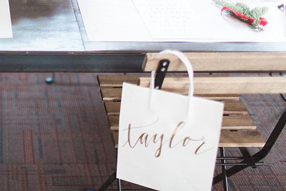 Custom gift bags  Wedding gift bags  Bridal shower by RachelCarl
