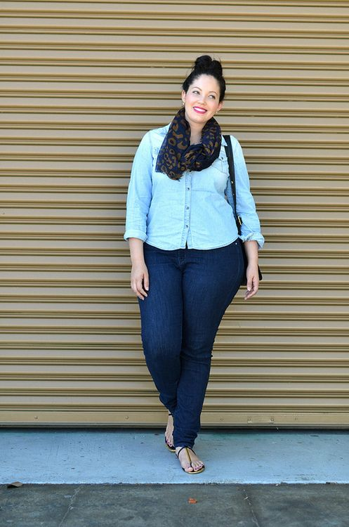 Double Dose of Denim...girl with curves..sigh...
