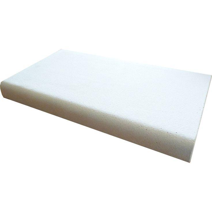 Couvre Mur Plat Chaperon Mur Plat Lisse Blanc H45 X L30