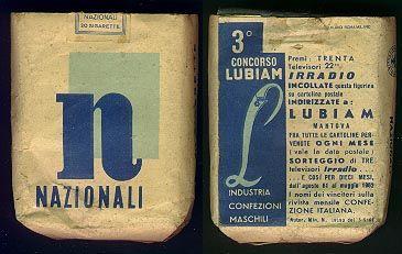 'Sigarette NAZIONALI degli anni '70. Gli stessi, come quelli che fuma il papa di Michele.