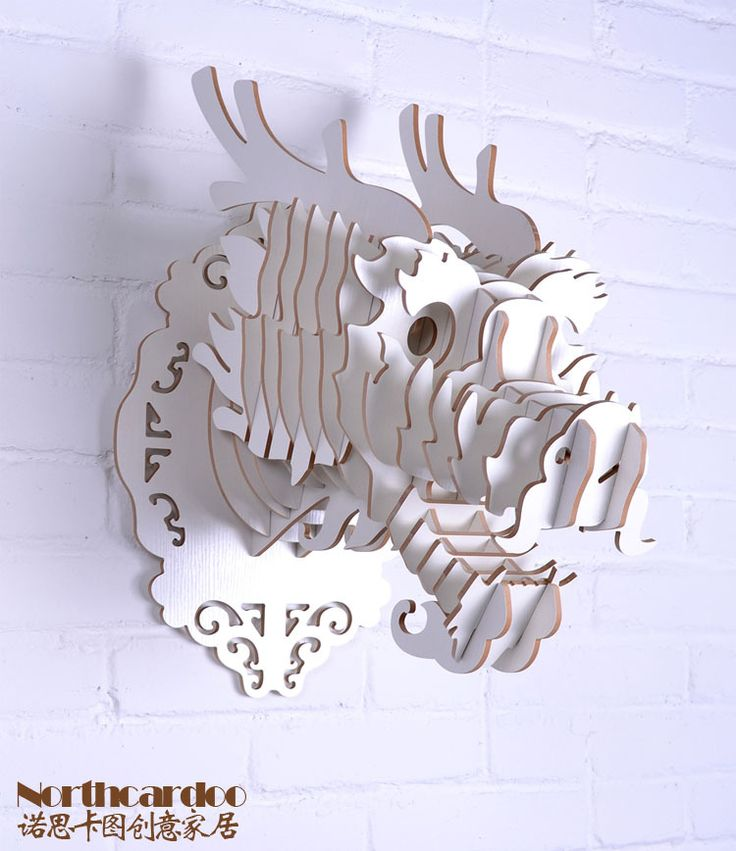 wooden dragon head of DIY crafts Oriental style wall decoration,wood carving animal head Chinese wall hanging modern home decor(China (Mainl...