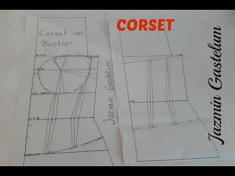 911702254 Como Hacer Un Corset Bustier (Patron) Jazmin Gastelum - YouTube ...