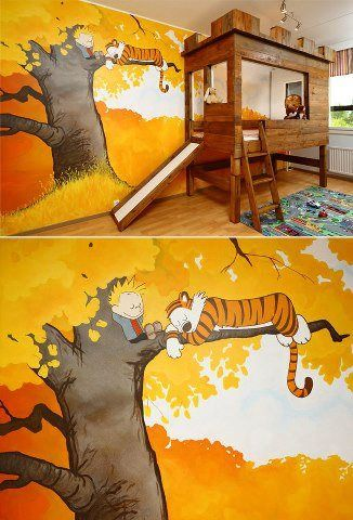221 best images about c h on pinterest calvin and for Calvin and hobbes bedroom mural