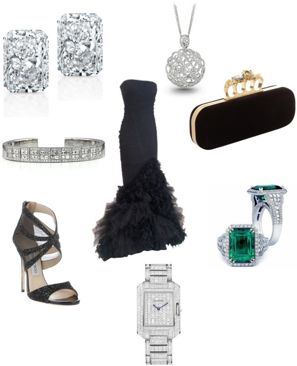 """""""Black Tie Event"""" by alsonjewelers on Polyvore"""