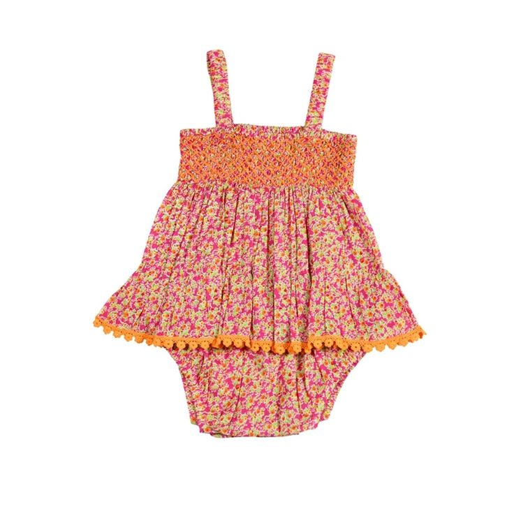 Coco & Ginger - Fluer Sunsuit - Pink Morocco