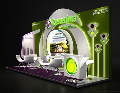 MUSTAFA NEVZAT - REMSIMA Fuar ve Medikal Kongre Standı Tasarımı / Exhibition Booth Stand Design 6x2