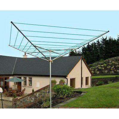 Breezecatcher TS4-140 7-Line Outdoor Umbrella Clothesline - TS4-140