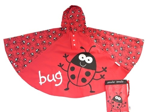 """Childrens Rain Poncho Ladybird - Children just love ladybugs (or ladybirds as """"we"""" used to call them) and you can't deny they do make a great, though not especially exciting, pet...  So here's the perfect way to keep the little ones in your life wrapped up against the wind and rain. These childrens rain ponchos are just adorable. Every kiddie should have one of these colourful rain ponchos in their wardrobe. They're great fun and just the job for brightening up those rainy days..."""