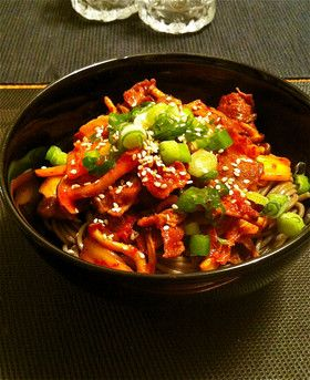 豚キムチぶっかけ蕎麦☆ by チロタンタン [クックパッド] 簡単おいしいみんなのレシピが271万品