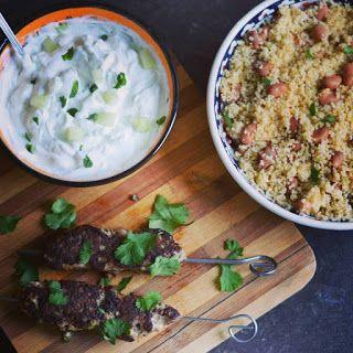 homemade: Kofta kebab de curcan, couscous si tzatziki