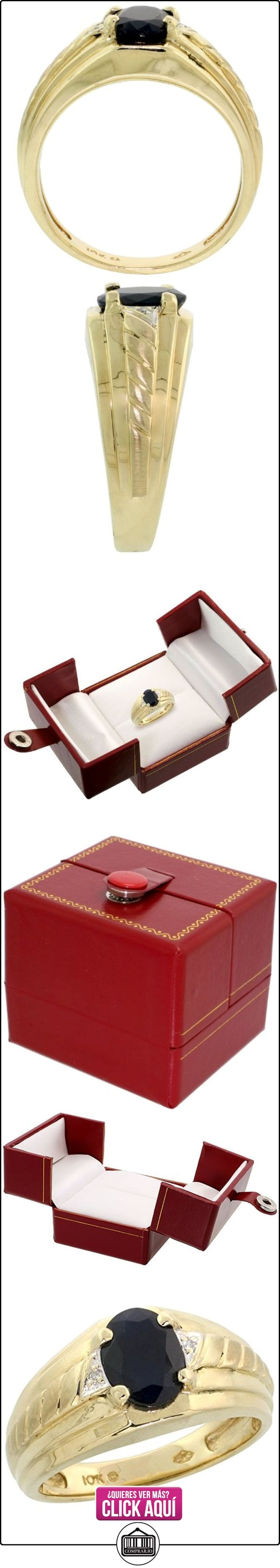 Revoni - Anillo de oro amarillo con diamante  ✿ Joyas para hombres especiales - lujo ✿ ▬► Ver oferta: http://comprar.io/goto/B0039ZHFK6