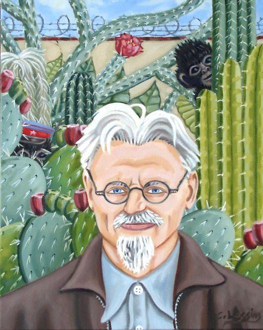 LEV TROZKY, by Frida Kahlo de Rivera (born Magdalena Carmen Frieda Kahlo y Calderón; 1907~1954)