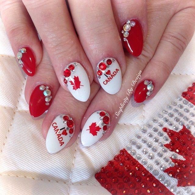 Day 182: Canada Day Nail Art