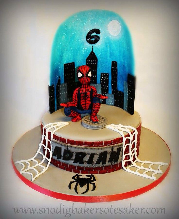17 Best Images About Spiderman Cake On Pinterest