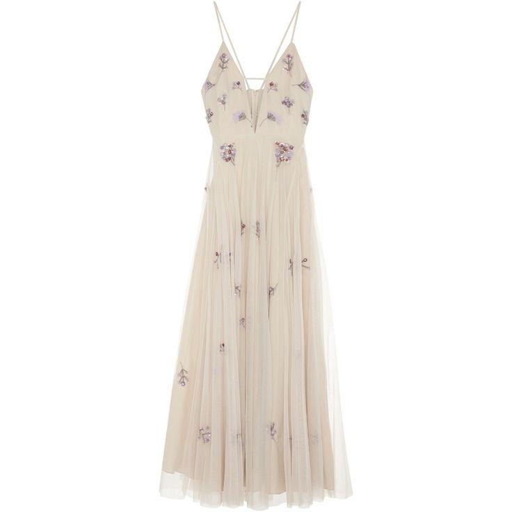 Lichtroze maxi jurk