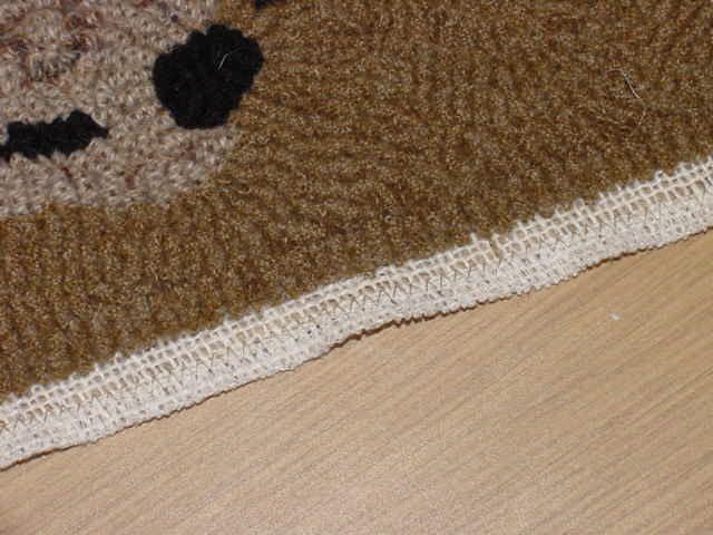 carpet binding. red saltbox - hooked rug binding carpet