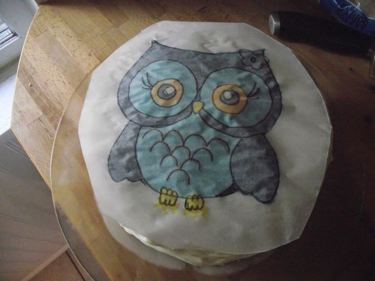 Birthday cake for my baby girl! #owl #creamcheeseicing #carrotcake #icingtips