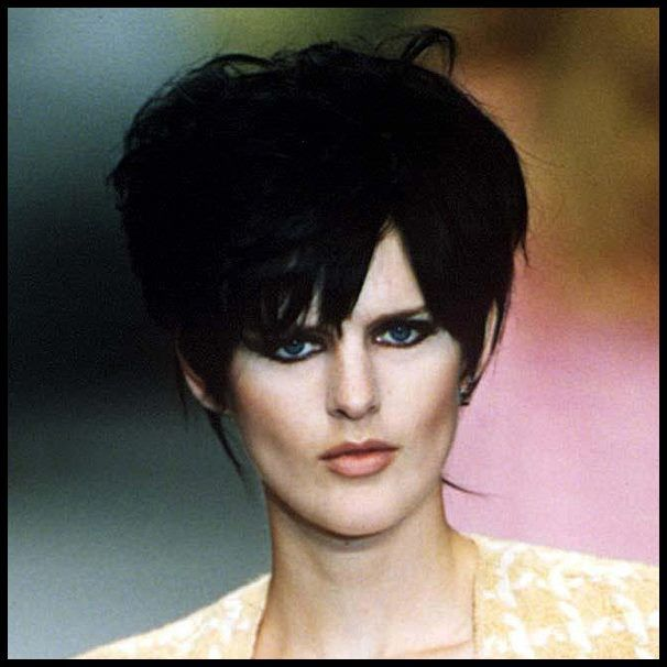 Supermodel #StellaTennant is our #HairHero for rocking this 90s jet black hairstyle
