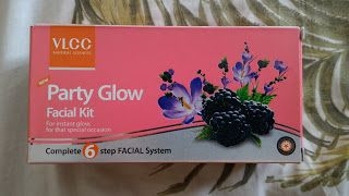 I totally relied on the VLCC Party Glow Facial Kit!