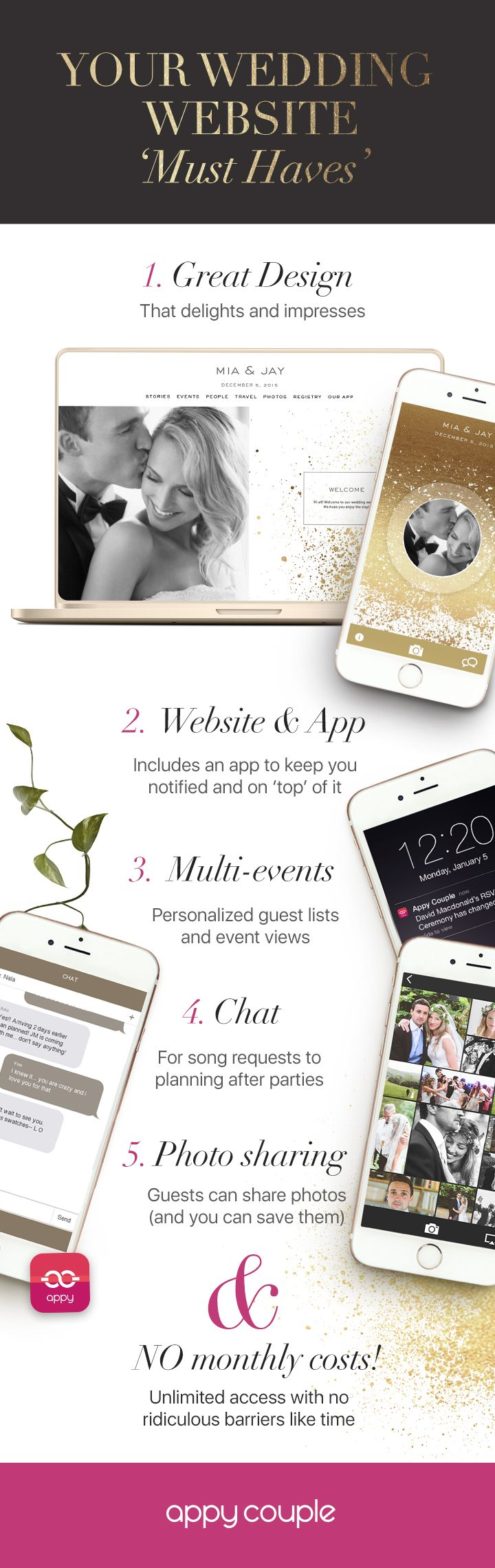 How to invite and delight your wedding guests. No need to patch together pieces of technology. Get it all with Appy Couple. Photos by: Paper Antler 2h