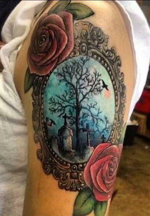 vintage frame tattoo design