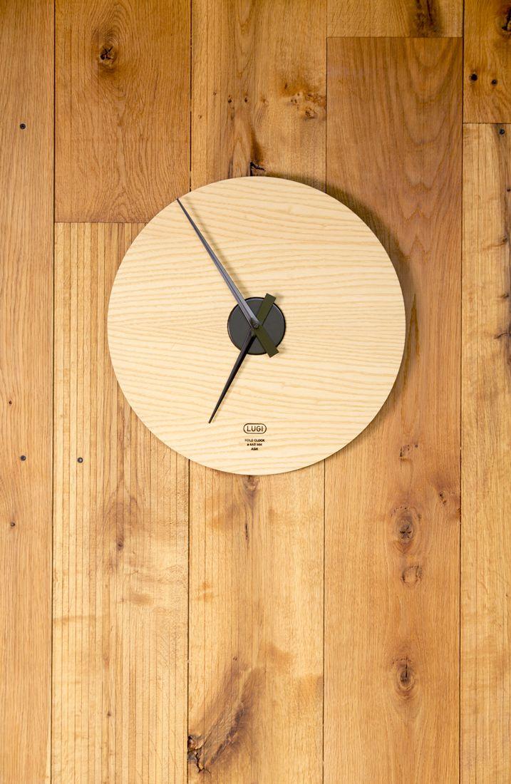 Kolo Clock 440 mm - Ash & Black Designed and produced by LUGI