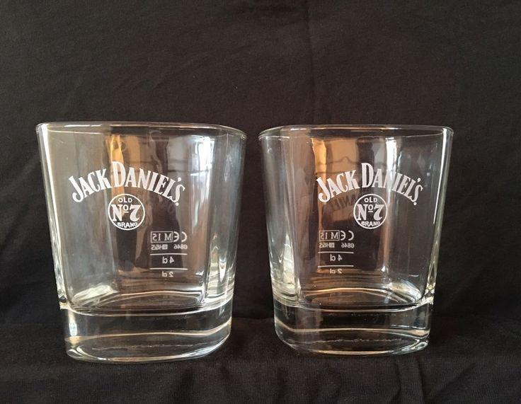 Authentic :: JACK DANIELS ::  2 X Whiskey Rock Glasses No 7 !