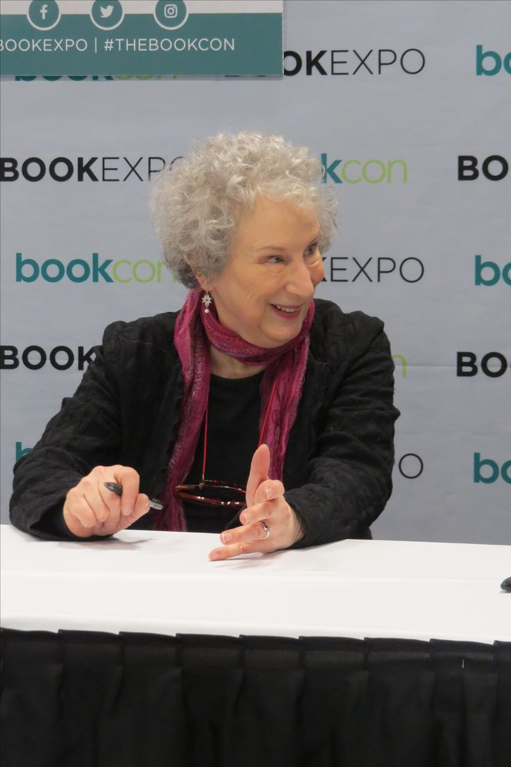 Author Margaret Atwood at BookExpo 2017 in NYC