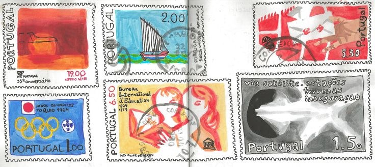 Stamps http://cargocollective.com/marianasantos http://marianasantosillustration.wordpress.com
