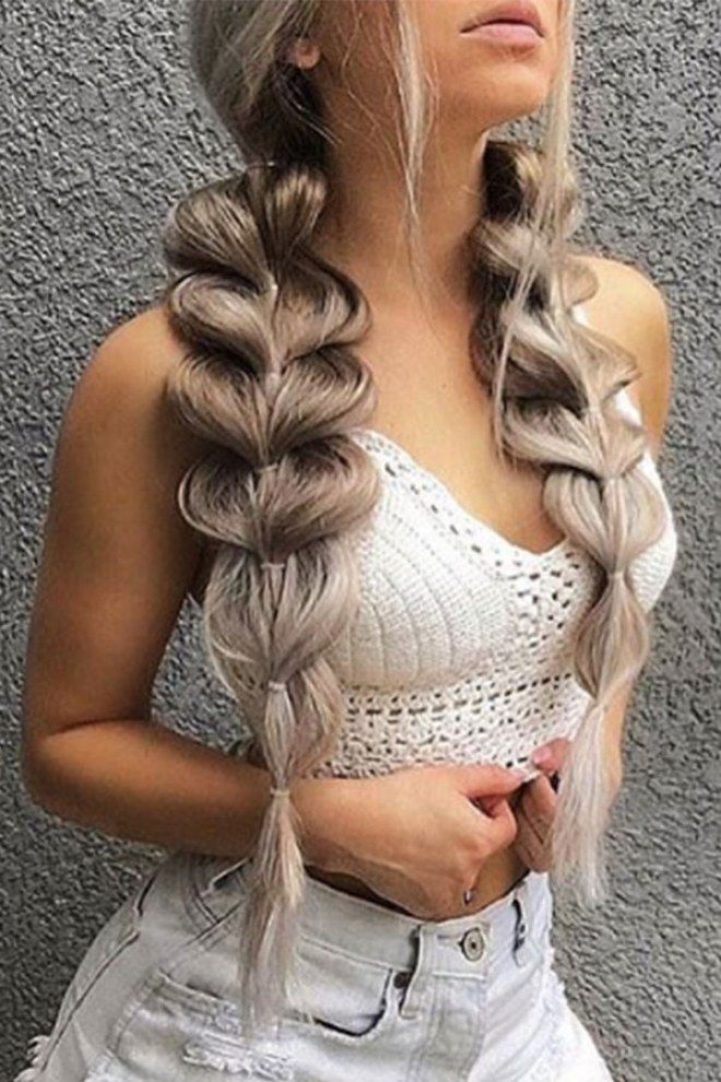 The Best Bubble Braid Hairstyles as Told by Instagram