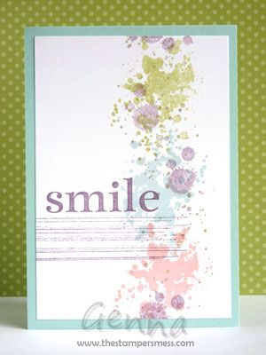 Stampin' Up Gorgeous Grunge - pretty color combo